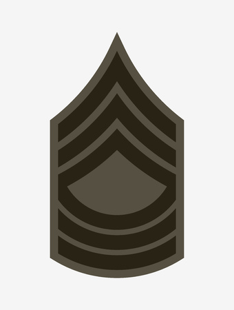 Military Ranks and Insignia. Stripes and Chevrons of Army. Master Sergeant