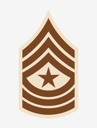 Military Ranks and Insignia, Stripes and Chevrons of Army, First Sergeant