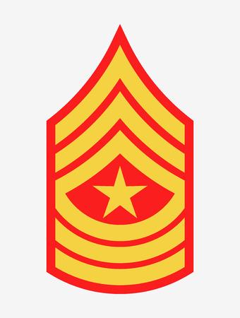 Militärische Ränge und Insignien, Streifen und Chevrons der Armee, Sergeant