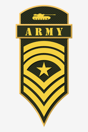 corps: Stripes and Chevrons of Army.