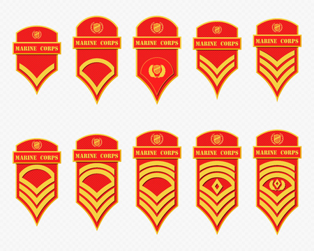 us air force: Military Ranks Stripes and Chevrons. Vector Set Army Insignia. Sergeants Staff Illustration