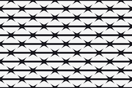 Vector Seamless Pattern. Silhouette of Barbed Wire