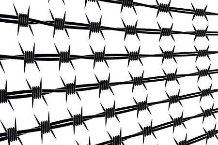 Vector Silhouette of Barbed Wire Lines. Types and Different Variants