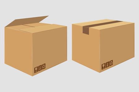 Brown open and close box.