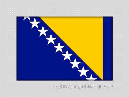 Flagge von Bosnien und Herzegowina . Nationalflagge