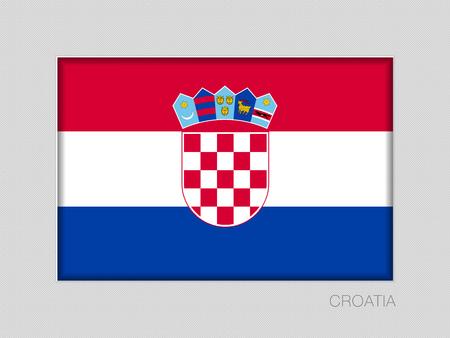Flag of Croatia. National Ensign Aspect Ratio 2 to 3 on Gray Cardboard Illustration