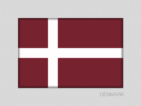 Denmark Orlogsflaget Variant Flag. Illustration