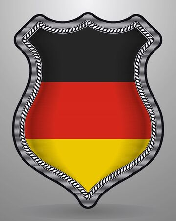 Flag of Germany. Vector Badge and Icon with Central Glossy National Symbol
