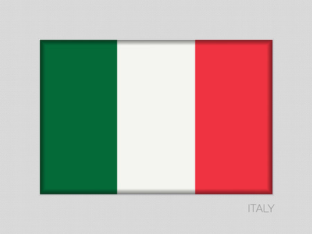 Flag of Italy. National Ensign Aspect Ratio 2 to 3 on Gray Cardboard Illustration
