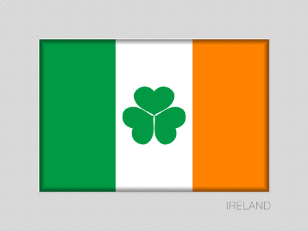 Ireland Flag with Shamrock icon.