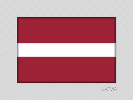 Flag of Latvia. National Ensign Aspect Ratio 2 to 3 on Gray Cardboard