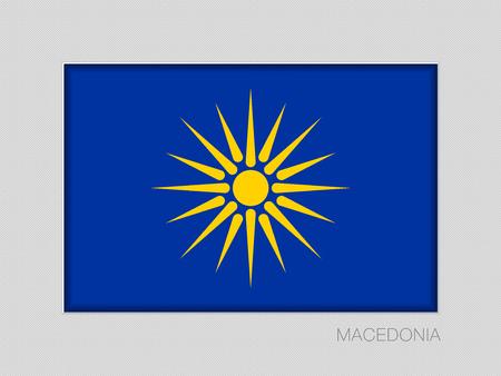 버지니아 선. 마케도니아 깃발 비공식 버전. 회색 마분지에 국가 소위 측면