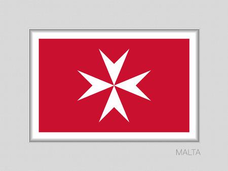 Flag of malta image illustration Vectores