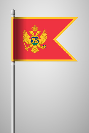 Flag of Montenegro isolated Illustration on Gray Background  イラスト・ベクター素材