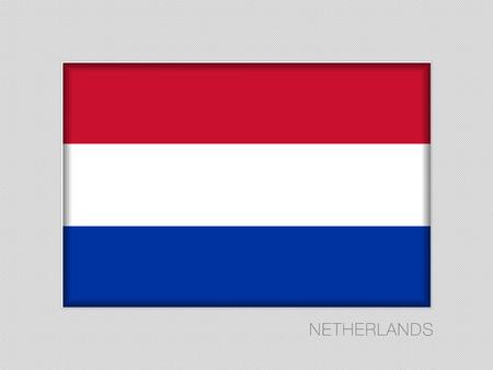 Flagge der Niederlande. National Ensign-Seitenverhältnis 2 zu 3 auf grauem Karton