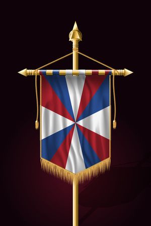 Dutch Flag The Prinsengeus. Festive Vertical Banner. Wall Hangings with Gold Tassel Fringing