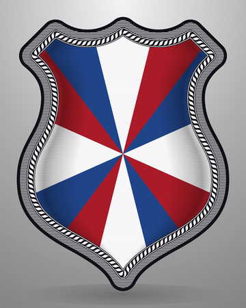 Dutch Flag The Prinsengeus. Vector Badge and Icon. Vertical Orientation Version Illustration