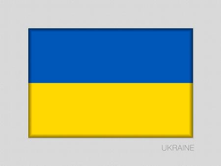 Flag of Ukraine. National Ensign on Gray Cardboard