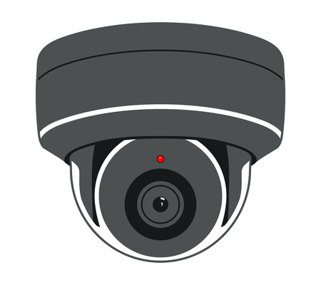 CCTV Camera. Security Surveillance System. Vector Isolated Illustration