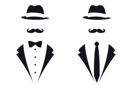 Gentleman Symbols. Avatar Icon. Male Sign. Vector Isolated Illustration Illustration