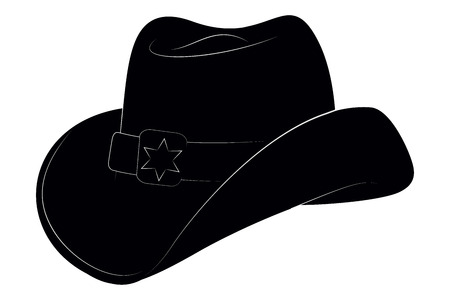 Sheriff Hat Icon. Vector Isolated Object. Side View. Symbol of Wild West