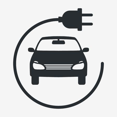 Elektroauto. Eco-Fahrzeuge-Symbol. Ökologischer Transport-Symbol. Vektor isoliert Vektorgrafik