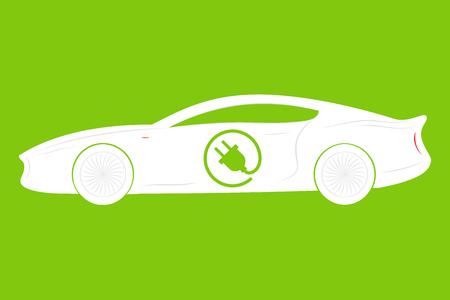 Elektroauto. Eco-Fahrzeuge-Symbol. Ökologischer Transport-Symbol. Vektor isoliert