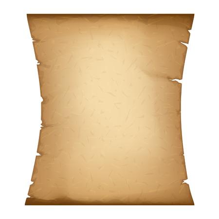 Old Paper. Vertical Parchment. Ancient Vintage Papyrus. Detailed Cardboard Baner with Space for Your Text Illusztráció