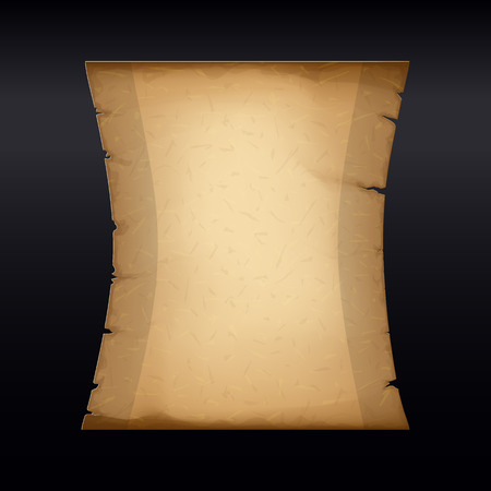 Ancient Parchment. Old Papyrus. Craft Paper. Vertical Banner with Space for Your Text