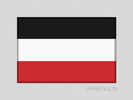 Historical Flag of Upper Volta. National Ensign Aspect Ratio 2 to 3 on Gray Cardboard. Vector
