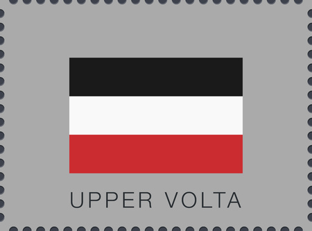 Historical Flag of Upper Volta. Vector Sign and Icon. Postage Stamp. Isolated