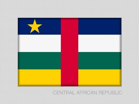 Flag of Central African Republic. National Ensign Aspect Ratio 2 to 3 on Gray Cardboard. Vector