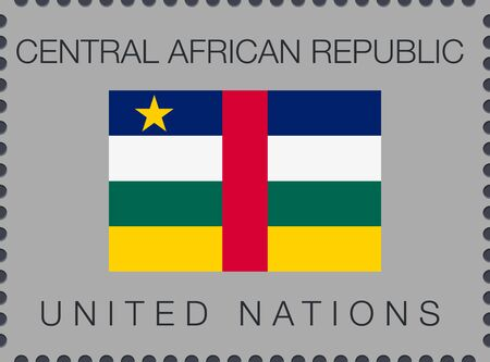 Flag of Central African Republic. Vector Sign and Icon. Postage Stamp. Isolated