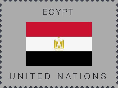 Flag of Egypt. Vector Sign and Icon. Postage Stamp. Isolated Иллюстрация