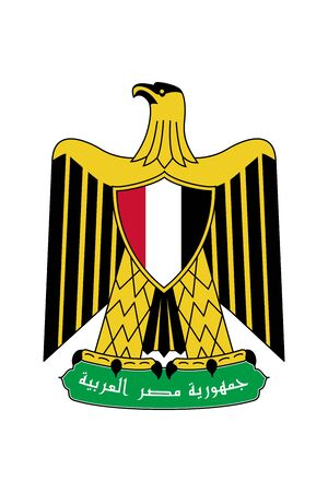 Egypt. Coat of Arms. Vector Sign and Icon. Vector Isolated Иллюстрация