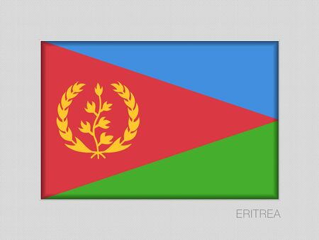 Flag of Eritrea. National Ensign Aspect Ratio 2 to 3 on Gray Cardboard. Vector Иллюстрация