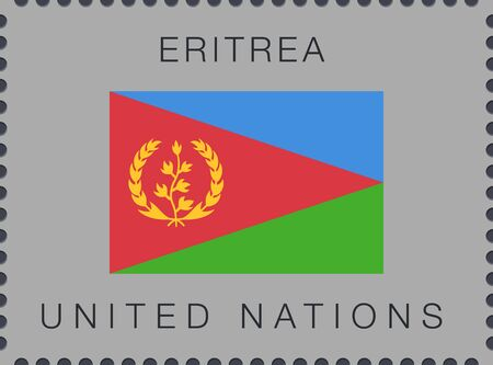 Flag of Eritrea. Vector Sign and Icon. Postage Stamp. Isolated Иллюстрация