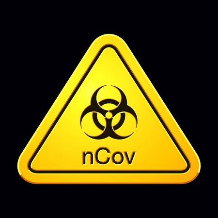 Coronavirus 2019-nCov. Neuartiges Coronavirus Ausbruch. Coronavirus-Zelle. Stoppen Sie das Coronavirus. Pandemie-Risikowarnung. Vektor-Illustration