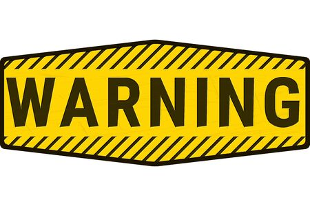 Warning Danger Sign. Grunge Rusty Plate with Yellow and Black Word Text and Stripes. Concept Illustration for Caution, Keep Out, Hazard and other Dangerous Areas Vecteurs