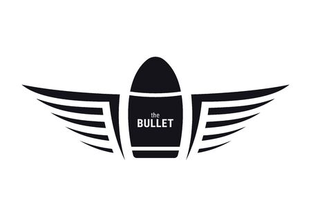 Winged Bullet. Military Symbol. Army Badge.  イラスト・ベクター素材