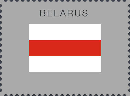 Belarus. Historical White-Red-White Flag. Vector Sign and Icon. Postage Stamp. Isolated