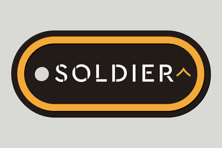 Military Token. Emblem of Soldier. Army Badge. Design Elements for Military Style Jackets, Shirt and T-Shirts