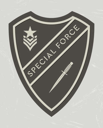 Military Logo. Army Patch. Design Elements for Military Style Jackets, Shirt and T-Shirts. Emblem of special force Stock Illustratie