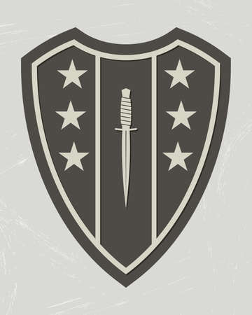 Military Logo. Army Patch. Design Elements for Military Style Jackets, Shirt and T-Shirts. Emblem of special force 矢量图像