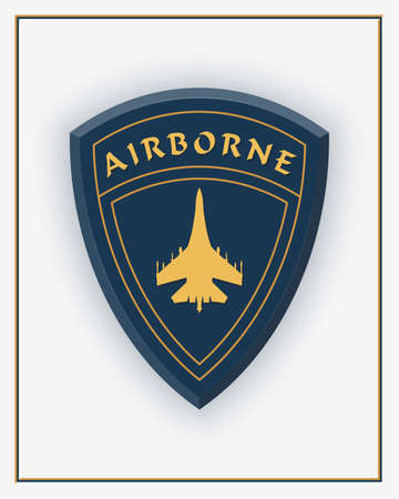 Air Force. Airborne Patch. Military Aviation . Design Elements for Military Style Jackets, Shirt and T-Shirts