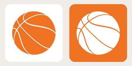 Basketball Vector Icons. Orange and White Basket Ball. Half-Turn View 矢量图像