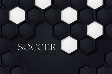 Football Vector Background. Soccer Backdrop Dark Version. Template for Sport Banner, Covers, Placards, Posters and Flyers