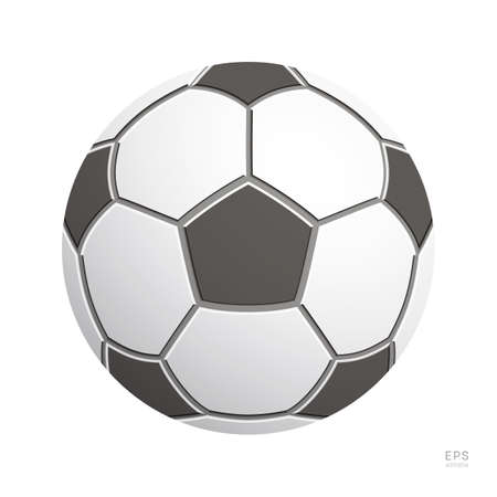 Football Vector Icon. Black and White Soccer Ball. Front View 矢量图像