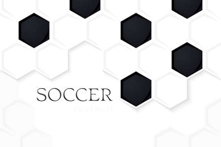 Football Vector Background. Soccer Backdrop Light Version. Template for Sport Banner, Covers, Placards, Posters and Flyers