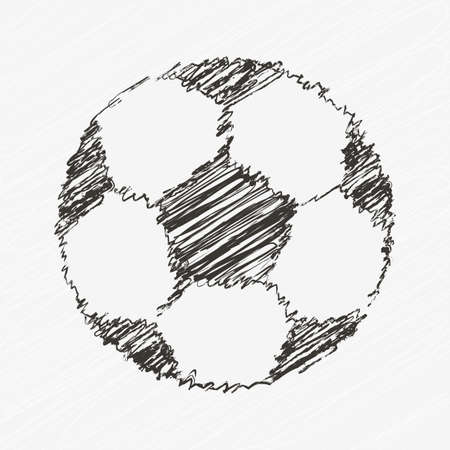Football Vector Icon. Hand Drawn Soccer Ball. Front View